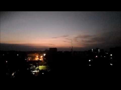 Sun rise at Ubon Thailand