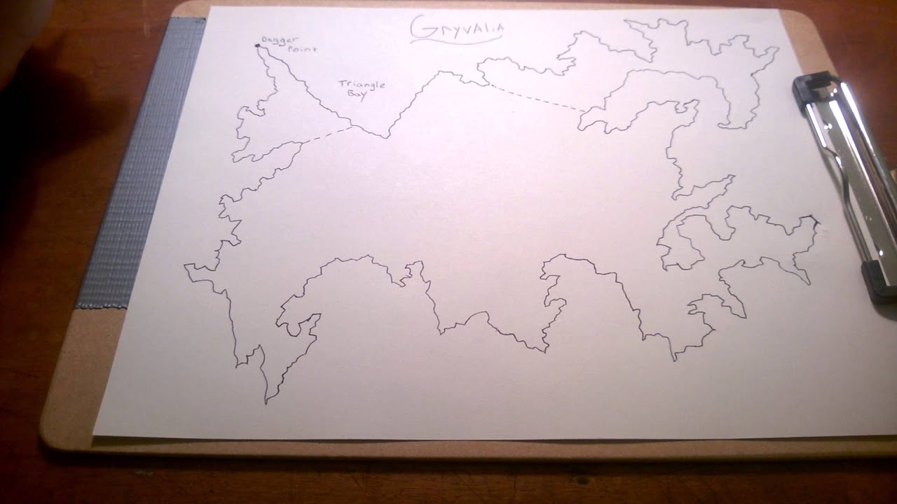 how to draw a video game map