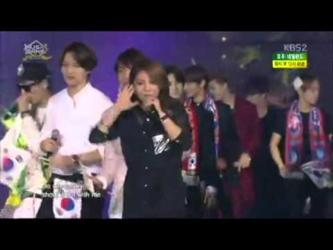 140607 We Are One - @ Music Bank In Brazil