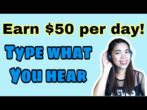 Earn $50 per day typing what you hear: Data Entry, Typing Jobs, Transcription Jobs : Homebased