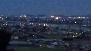 岩脇公園展望台からの夜景(^^)