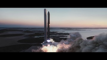 Starship Launch Animation