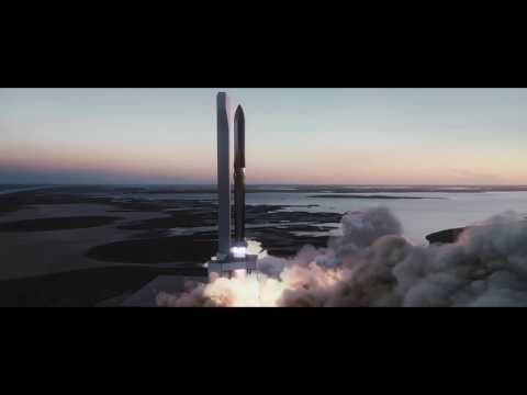 Starship Launch Animation