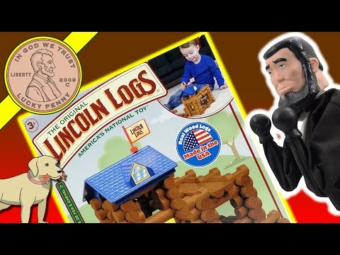 Lincoln Logs Horseshoe Hill Station Kids Toy Play Set