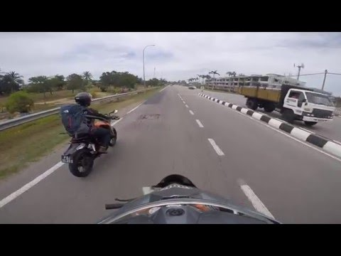 Motorcycle trip from SG to Mersing.