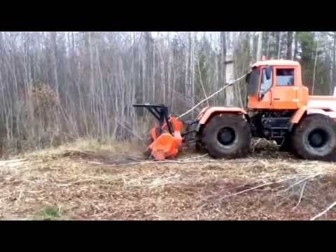ОРТЗ 150К с ИЛН 2400 машина для расчистки просек масса 10,4 тонны