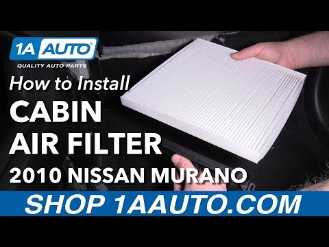 How to Replace Cabin Air Filter 09-14 Nissan Murano