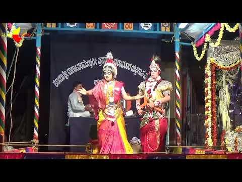 yakshagana - shri devi mahathme by kateelu 1ne mela maalini part2