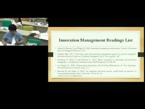Innovation Management Seminar (10.26.13), Part I