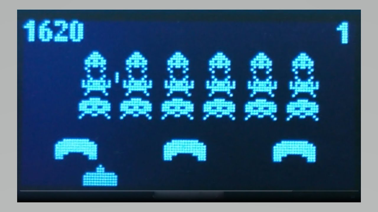 SideTracked Space Invaders u8g2