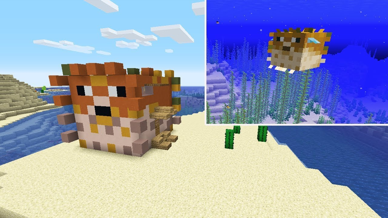 Minecraft: How to Build a Pufferfish House - YouTube
