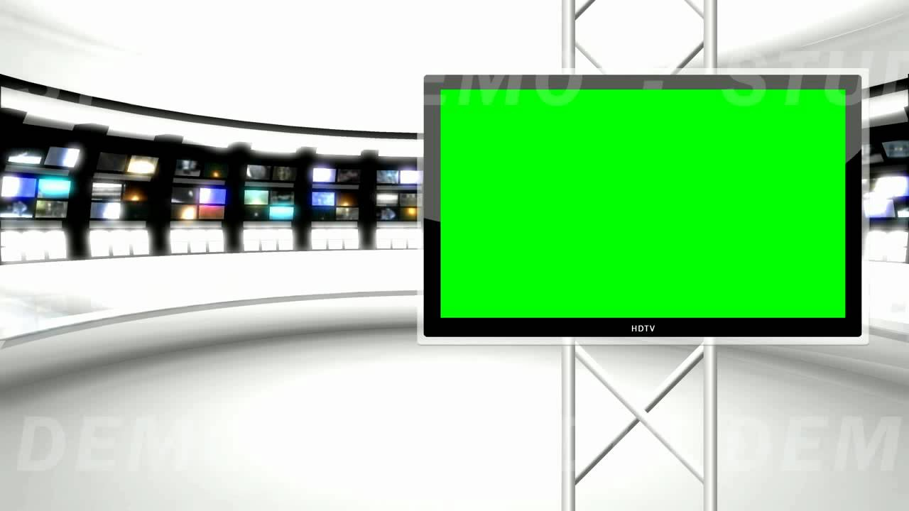 Green Screen News Reporter Background