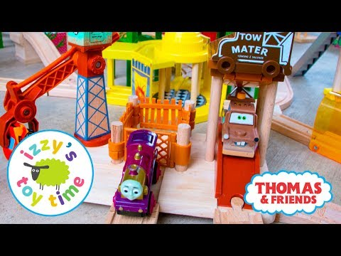 Thomas and Friends   Thomas Train RARE Pixar Cars Mater's Tow Yard   Fun Toy Trains for Kids