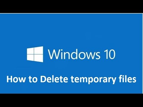 How to Delete temporary files in windows 10 - Howtosolveit