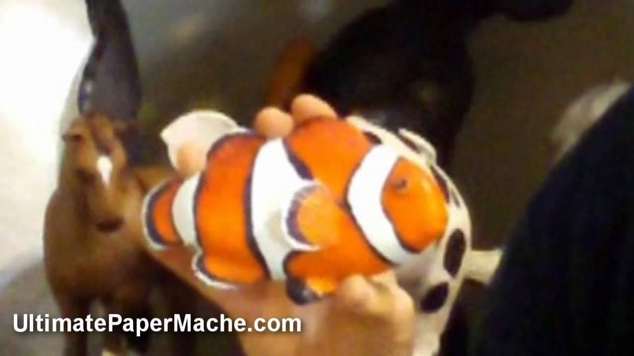 Paper Mache Clownfish -