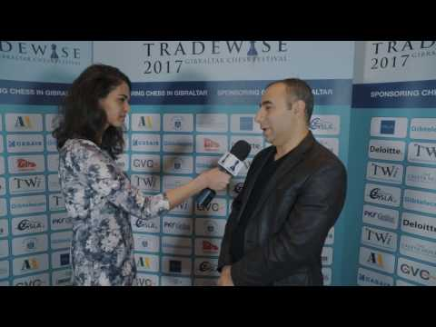Round 1 Gibraltar Chess post-game interview with Varuzhan Akobian