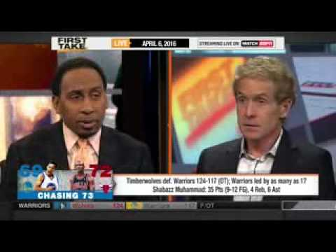 ESPN FIRST TAKE 4 6 2016 THE WARRIORS ARE NOW LONG SHOTS TO WIN 73 GAMES   YouTube