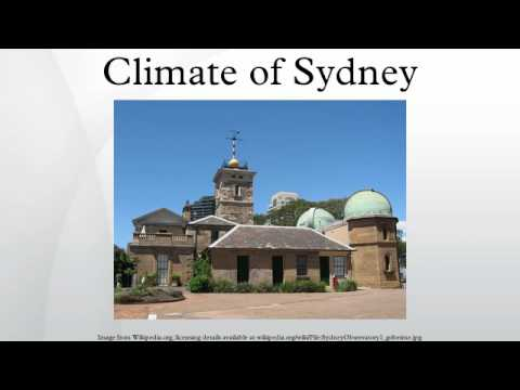 Climate Of Sydney