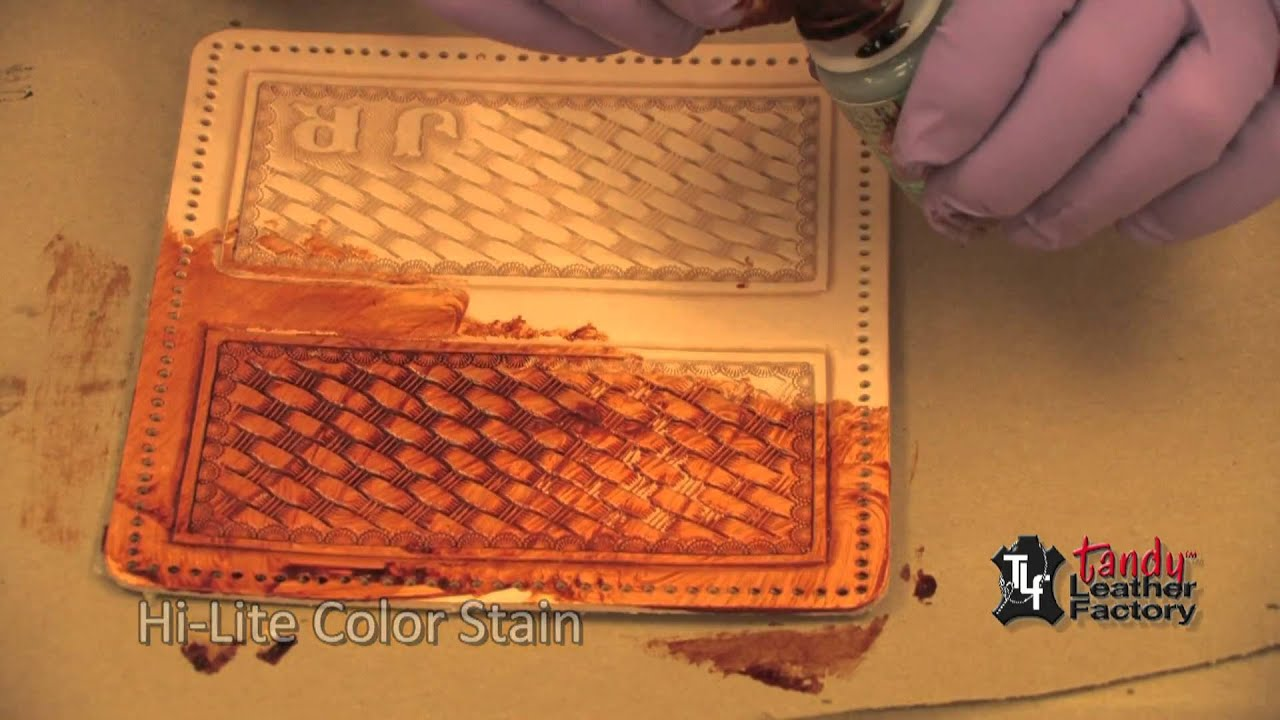 Antique Stain And Finish On Leather - YouTube