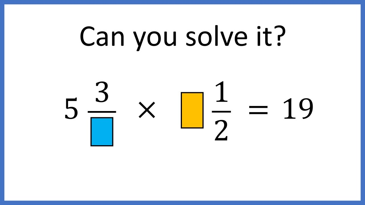 A very challenging question about fractions
