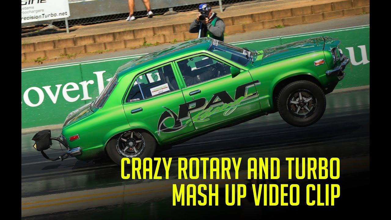 Crazy Rotary And Turbo Drag Car And Street Car Mashup