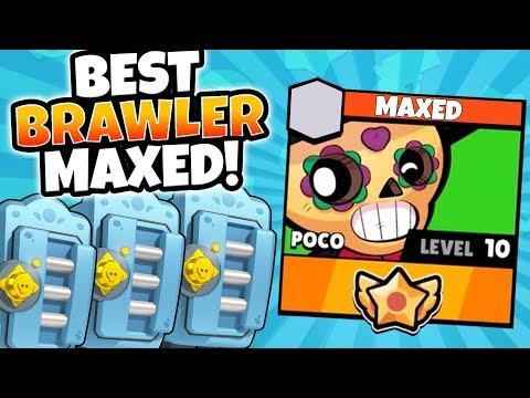 MEGA BRAWL BOX OPENING & MAXING BEST BRAWLER POCO! | Brawl Stars | MAX LEVEL 10 POCO GAMEPLAY!