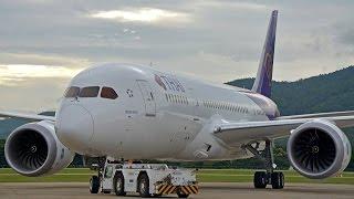 Thai Airways Boeing 787-8 Startup @ CNX.