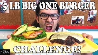Food Challenge: 5 lb Big One Burger Challenge at Sylvester's | FreakEating Goes California Style