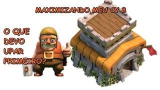 MAXIMIZANDO MEU CV 8 PARTE 01 - O QUE DEVO UPAR PRIMEIRO?   CLASH OF CLANS