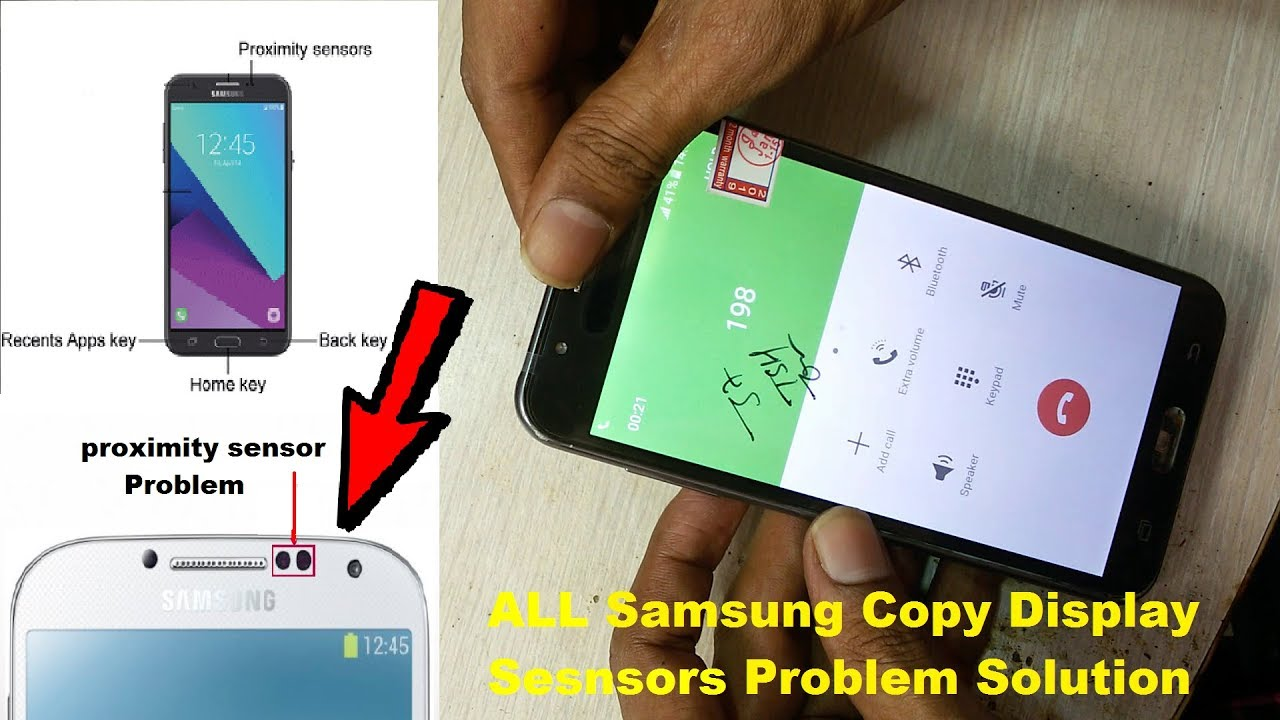 All Samsung Copy Display Sensor Not Working Solution / Samsung On Call  Display Light Off J1,J2,J7,A5
