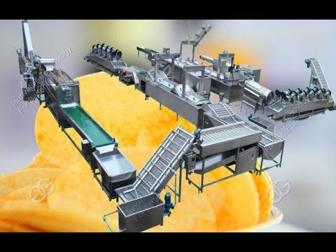 Full Line Of Potato Chips Making Machine|Automatic Potato Chips Manufacturing Equipment Demo