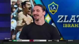 Zlatan Ibrahimović visits ESPN's SportsCenter