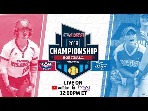 2018 C-USA Softball Championship - Game 7 - Florida Atlantic vs. Middle Tennessee