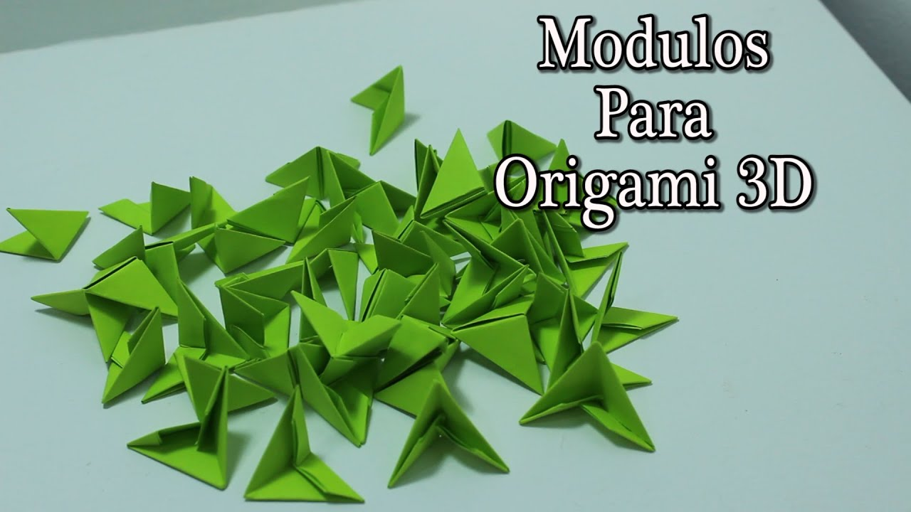Papercraft Como hacer piezas para origami 3D TUTORIAL!