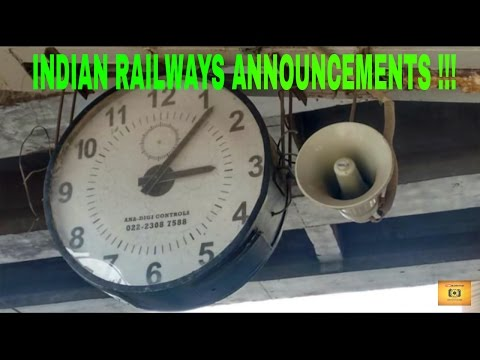 INDIAN RAILWAYS ANNOUNCEMENTS | COMPILATION OF RAILWAY ANNOUNCEMENTS