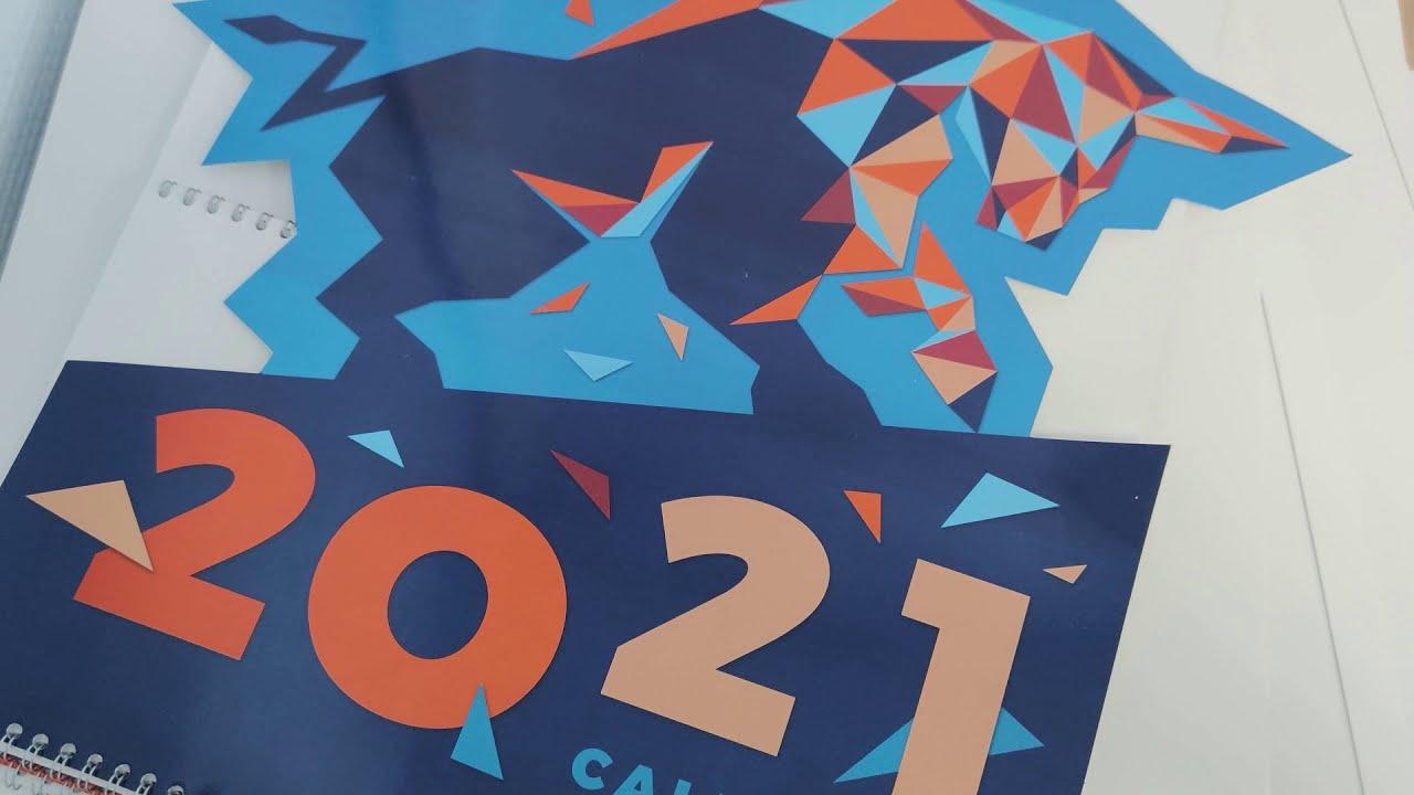 Процесс изготовления календаря 2021