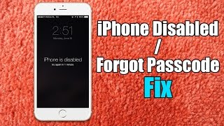 Iphone Disabled / Forgot Passcode iPhone Fix - Hard Reset for iPhone 6/5s/5c/5/4s thumbnail