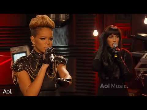 Rihanna- Rihanna Disturbia AOL Session 2010 HQ Live