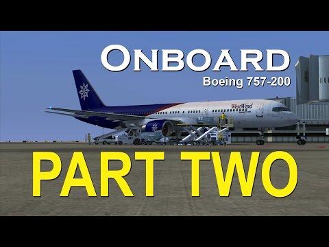 Onboard Boeing 757-200 KMSP-KLAX (Full Flight) [Part Two]