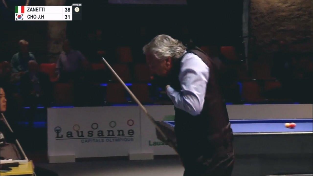 Marco Zanetti vs Jae Ho Cho - Lausanne Billiard Masters 2016 ...