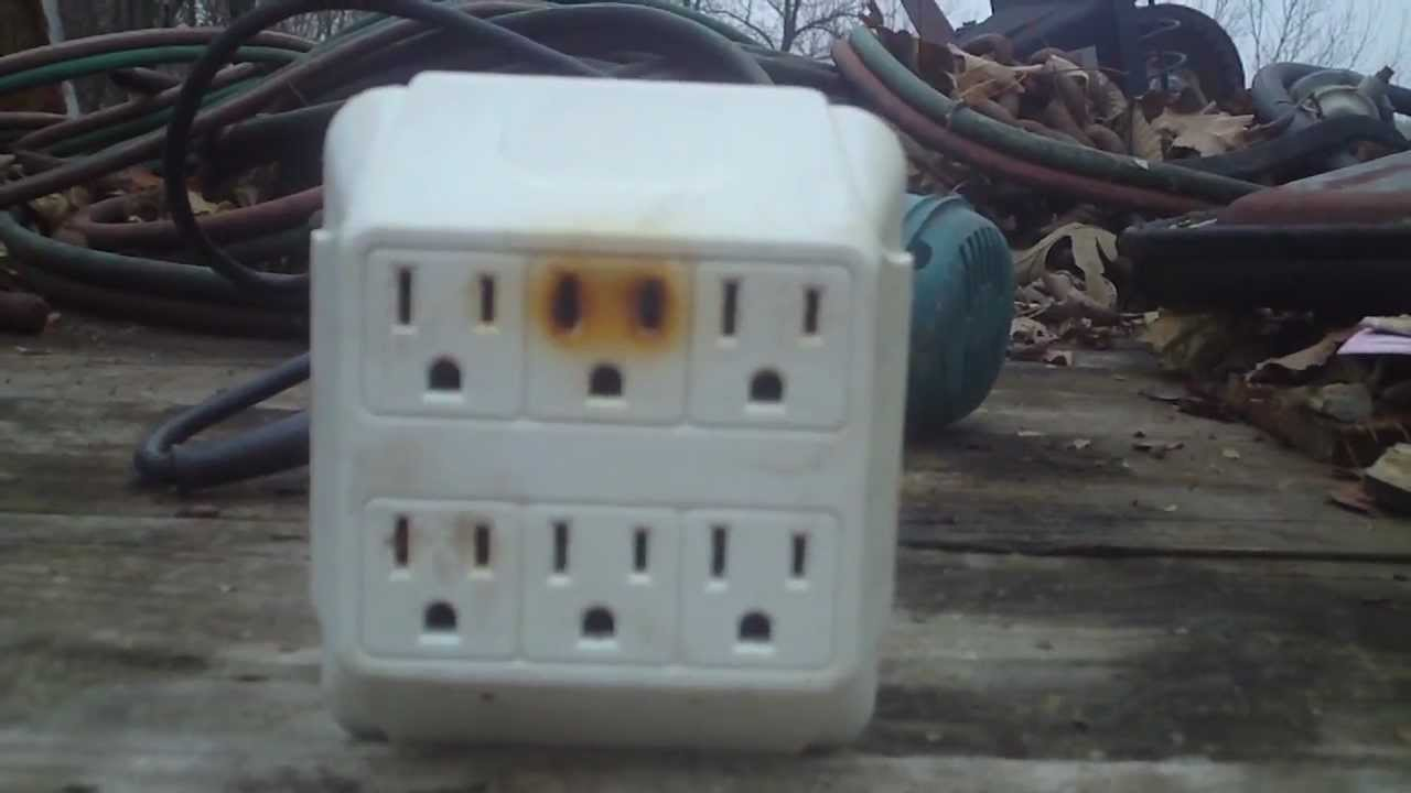 120v Receptacle Wiring Fire Hazard Potential 6 Outlet Wall Adapter Youtube