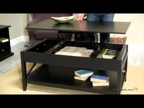 Belham Living Hampton Lift Top Coffee Table - Black