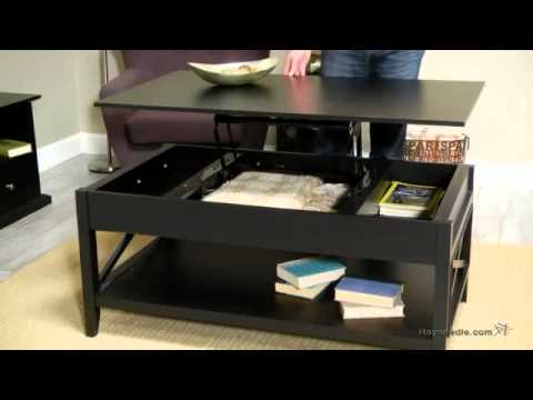 Belham living hampton lift top coffee table black youtube Black lift top coffee tables