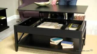 Belham Living Hampton Lift Top Coffee Table - Black