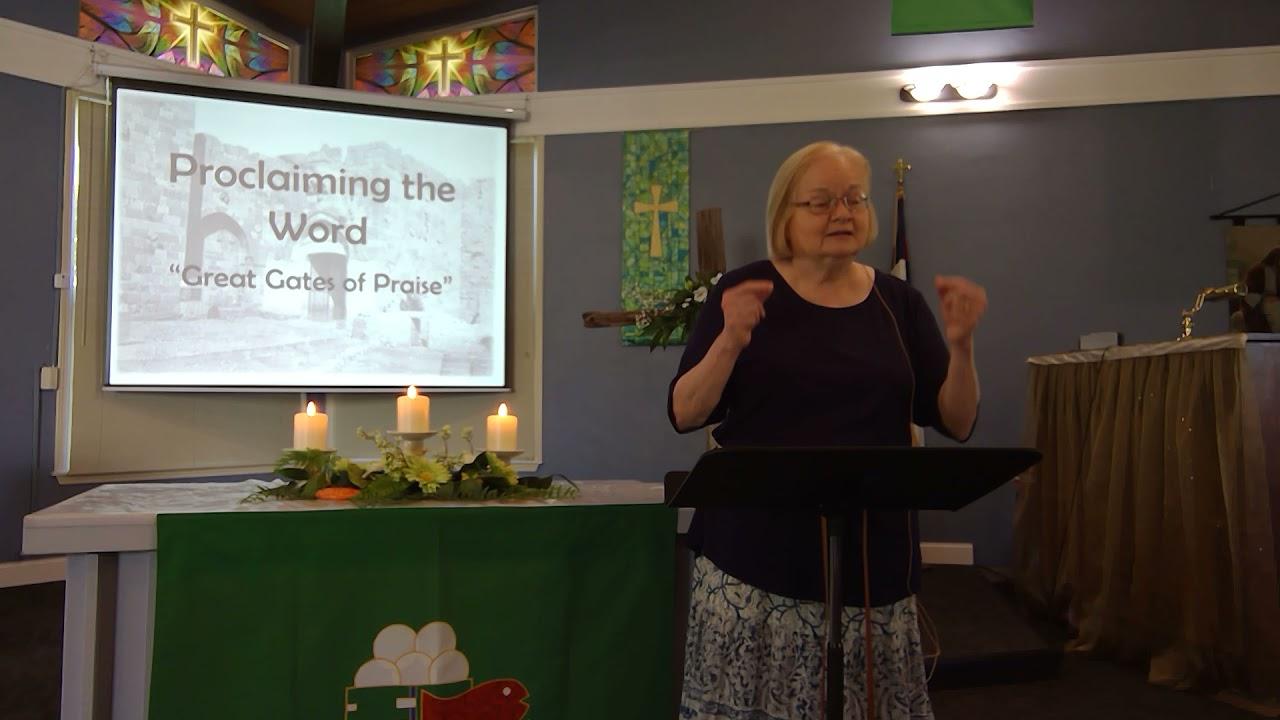 """July 11, 2021 ~ Rev. Julia Price ~ """"Great Gates of Praise"""""""