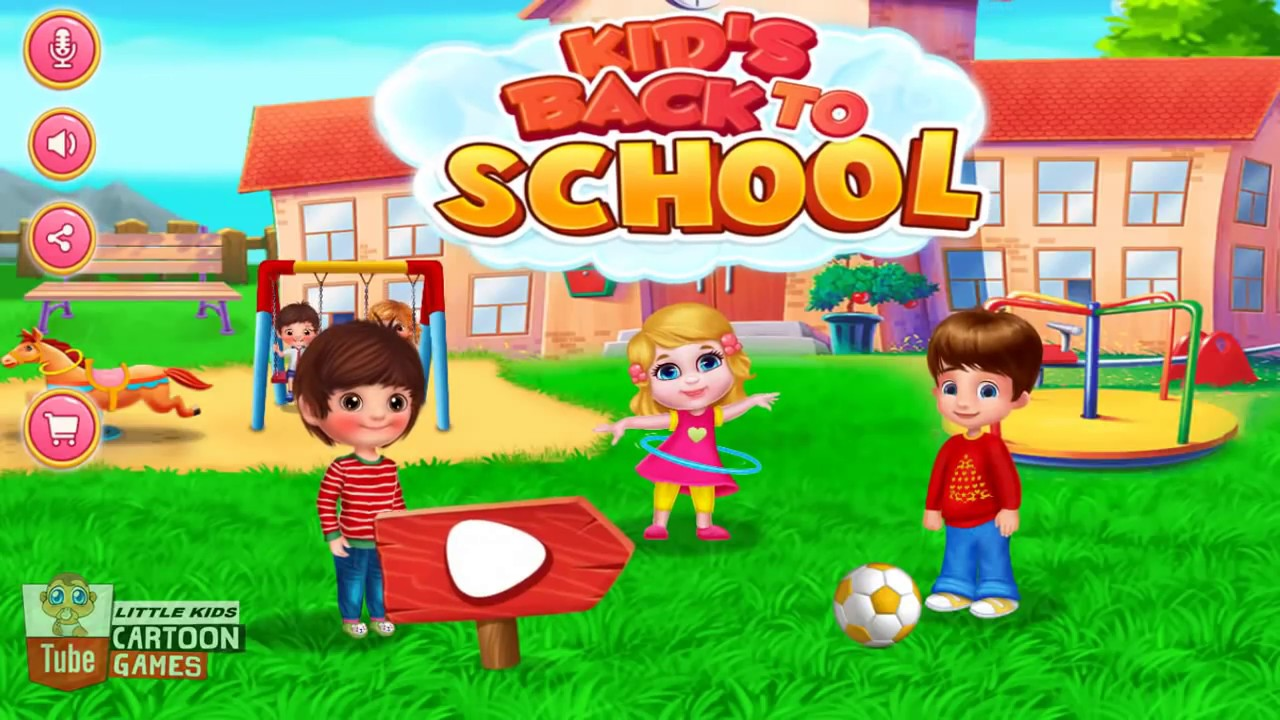 Fun Baby Care. Learn Colors Games Kids Back To School. Time Dress Up ...