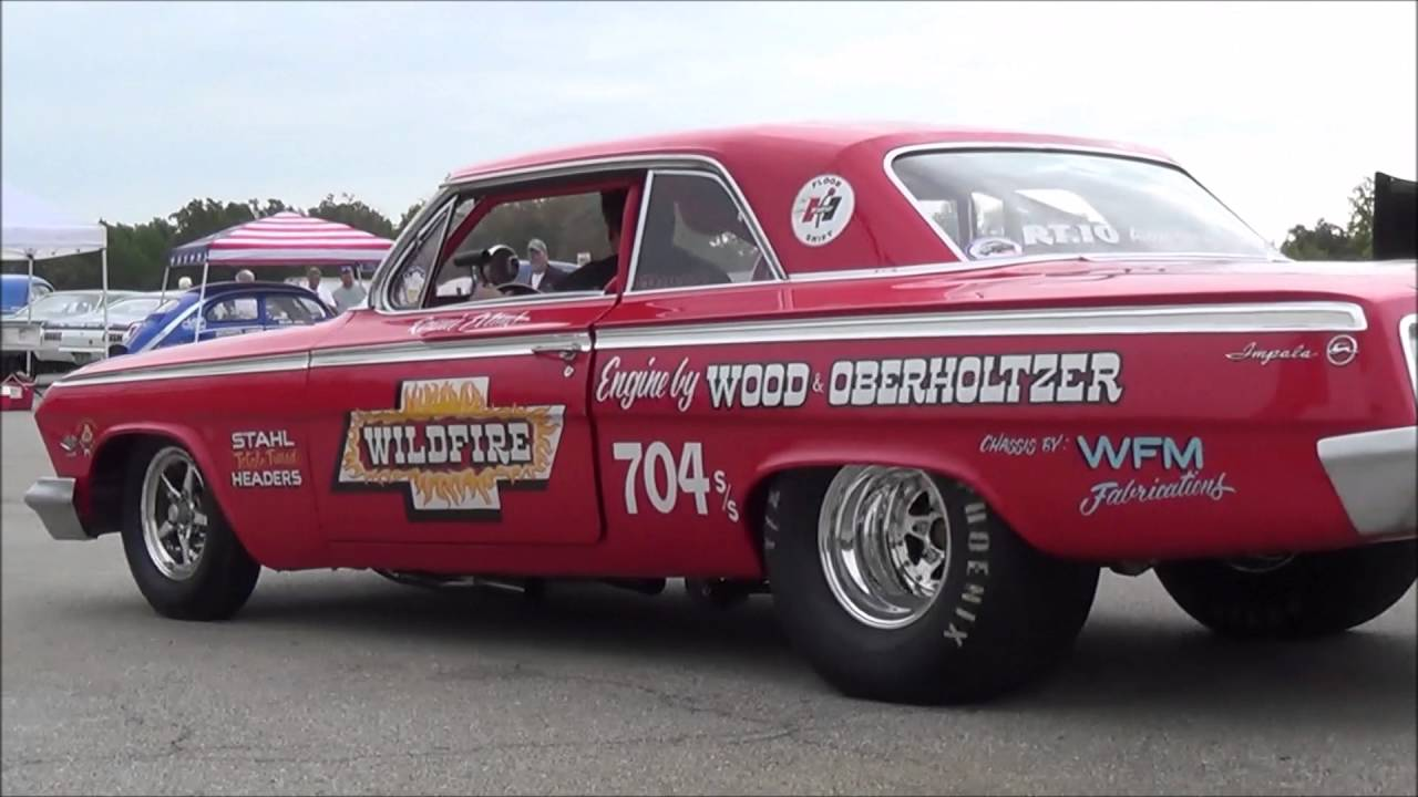 1962 Chevy Impala Wildfire Race Car Track Action - YouTube