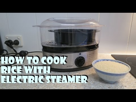 How to cook rice with electric steamer.