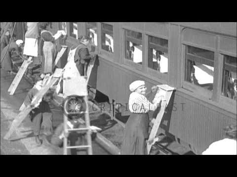 Women working in United Kingdom. HD Stock Footage