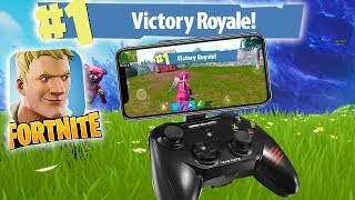"100% WORKING CONTROLLER ON MOBILE!! ""Fortnite Mobile"" 50vs.50"